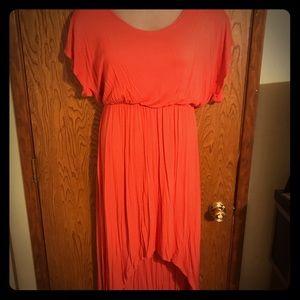 Buttery Soft High-Low Tee Shirt Dress
